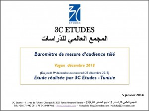 Baromètre de mesure d'audience  télé vague  24
